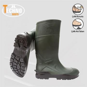 Techno Boots İş Çizmesi Çelik Burun + Ara Tabanlı
